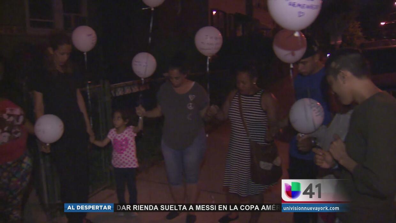 Vigilia por niña de dos años que murió en Jersey City