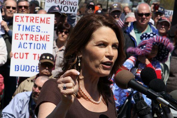 Otra mujer interesada en la Casa Blanca es la legisladora Michele Bachma...