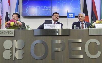 Directivos de la reunión ordinaria 169 de la Organización de Países Expo...