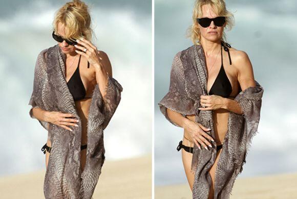 Ni el cálido clima de las playas de Hawaii logró que Pamela Anderson dej...