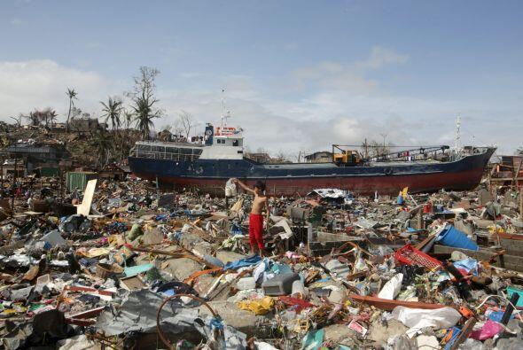Los expertos preveían que Leyte sería muy afectada por el tifón, pero po...