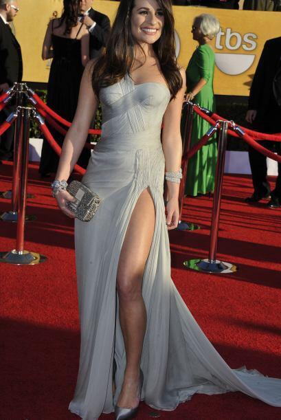 Dentro de los Premios SAG Awards, la actriz de 'Glee', Lea Michele fue u...