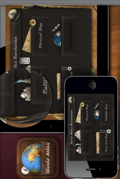 ATLAS MUNDIAL es una aplicación propiamente diseñada para el iPad, pero...
