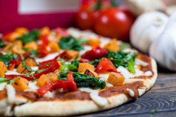 Se vende en su restaurarte  londinense  Maze y es una pizza de masa delg...