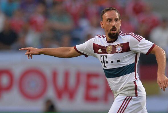 Otro que viene a desplegar su magia es el francés Frank Ribery.