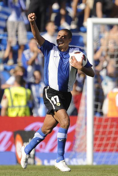 El franco-argentino David Trezeguet debutó como goleador en España al de...