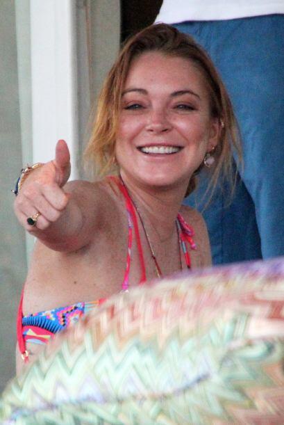 """Y a juzgar del buen humor con el que anda Lindsay Lohan, parece que su """"..."""