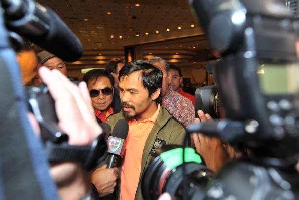 Pacquiao hará la defensa número cuatro del título welter de la OMB que l...