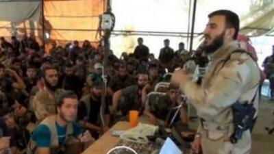 Zahran Alloush, líder rebelde sirio e integrante de la Jaysh al-Islam o...