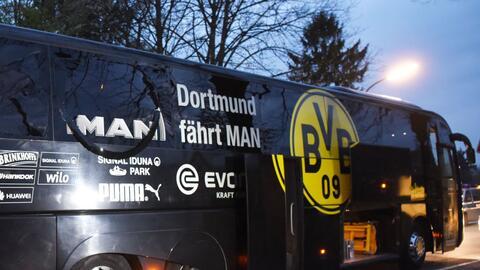 El autobús del equipo alemán se trasladaba del hotel al estadio cuando o...