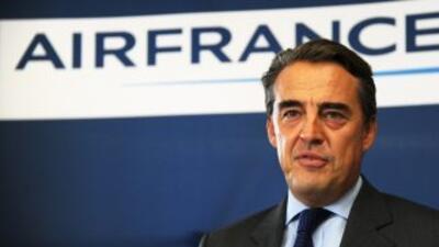 Alexandre de Juniac, CEO de Air France, ofreció una rueda de prensa, lue...