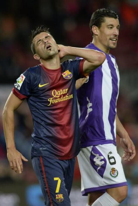 David Villa se perdió algunas ocasiones de hacerse presente en el juego...