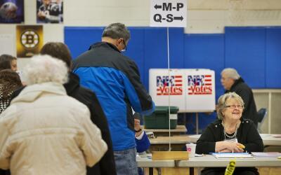 Centro de votación en New Hampshire