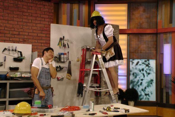 Susy, la guapa y popular ayudante del Handyman no pudo estar en el progr...