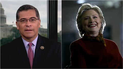 """Xavier Becerra: """"La exsecretaria Clinton está preparada para ganar el 8..."""