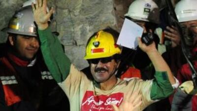 El minero Juan Illanes Palma, el tercero en ser rescatado y vocero de lo...