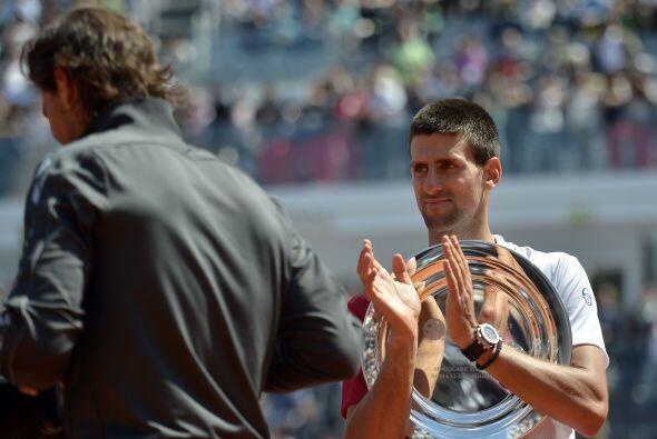 Djokovic no pudo coronarse en el pasado Masters 1000 de Roma, donde el e...