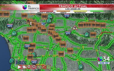 Accidente afecta al menos un carril de la autopista 10