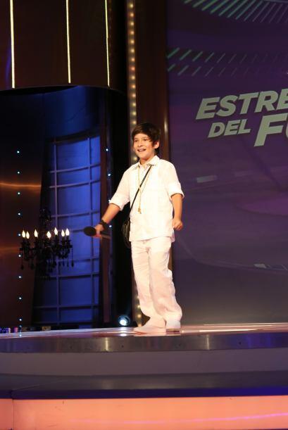 """El primer turno le tocó a Adrián, mejor conocido como """"Mini Juanes""""."""