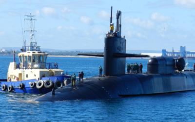 Submarino USS Michigan, de la Armada estadounidense, llega a Corea del Sur