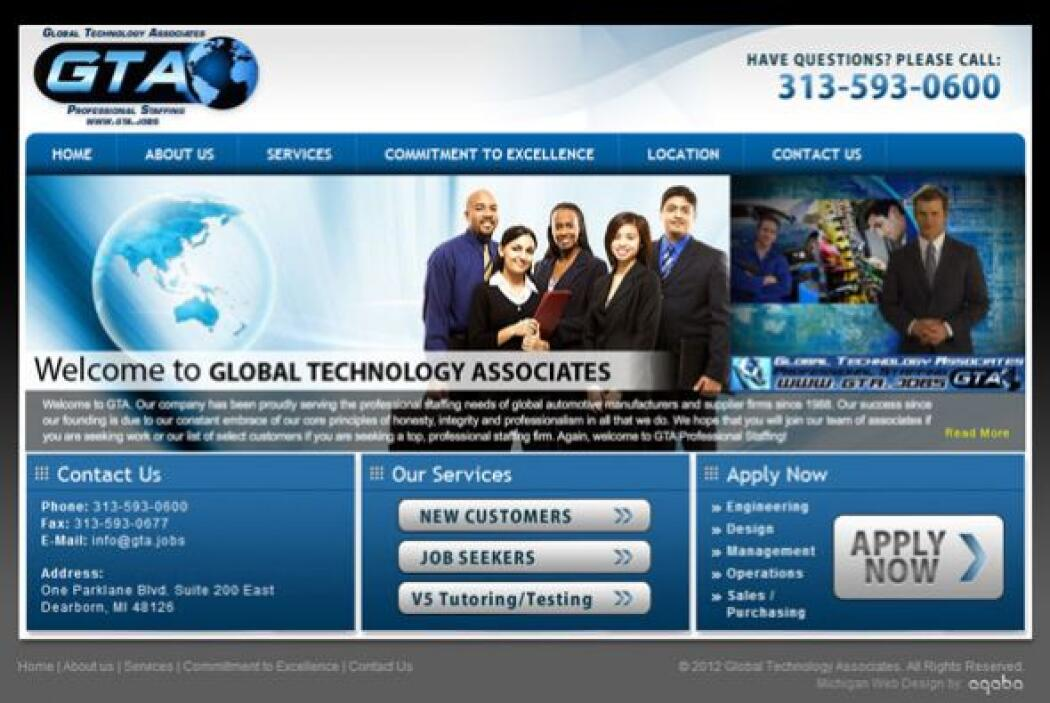 8. GLOBAL TECHNOLOGY ASSOCIATES   Sector de la industria: Agencia de per...