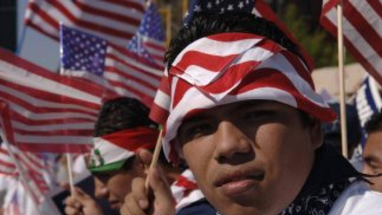 El 1 de mayo en Estados Unidos se convirtió en el día de los inmigrantes...
