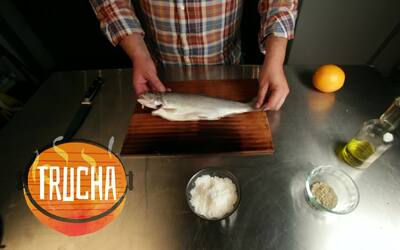 Master of the grill: trucha arcoiris con naranja
