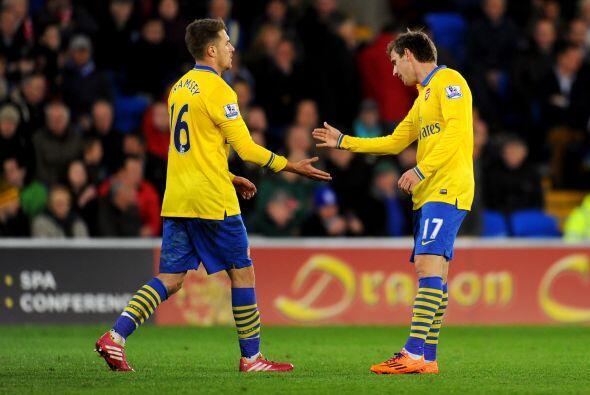 Unas horas después de que Ramsey marcara un doblete al Cardiff Ci...