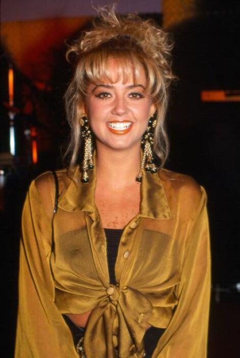 Andrea Legarreta en 1989, a los 17 años.