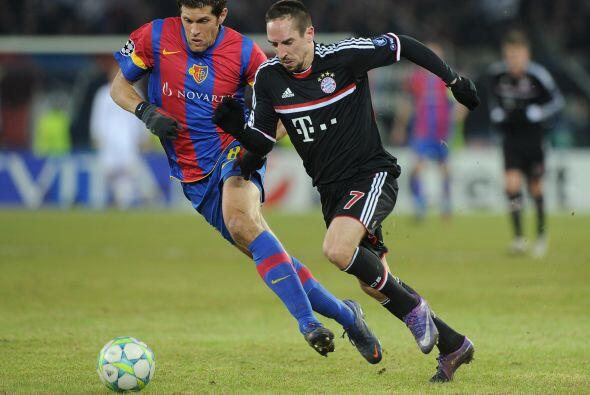 Incluso Franck Ribery se vio apagado cada vez que tomaba la pelota.