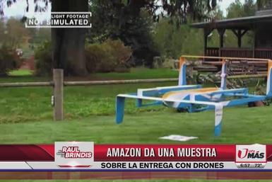 Amazon da una muestra de entrega con drones