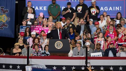 """Trump: """"Un general muy respetado me dijo recientemente que la MS13 es el..."""