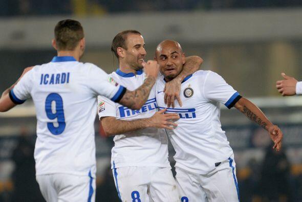 El futbolista del Inter de Milán convirtió el segundo gol...