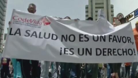 Nueva jornada de protestas en Venezuela: esta vez fue el sector de la sa...