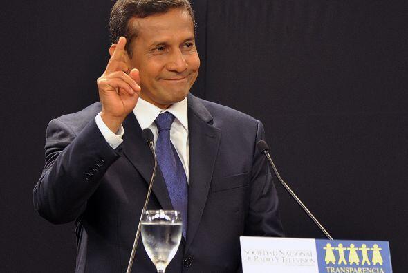 El candidato Ollanta Humala, quien se encuentra liderando las encuestas...