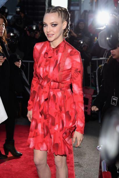 Amanda Seyfried en el estreno.