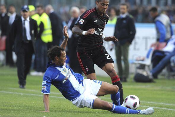 El puntero del torneo, Milan, tuvo que luchar durante los 90 minutos par...