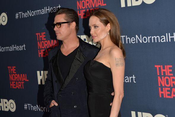 La ganadora del Oscar y Brad Pitt fueron a la presentación de una...