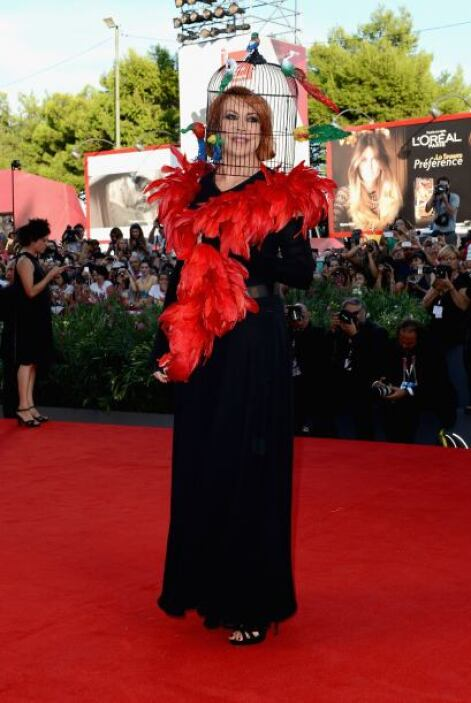 Marina Ripa di Meana, siempre se destaca por ser una mujer extravagante.