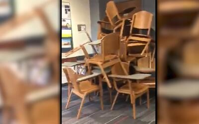 Así se resguardaron los estudiantes de la Universidad Estatal de Ohio de...