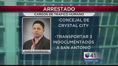 Concejal arrestado por tráfico humano