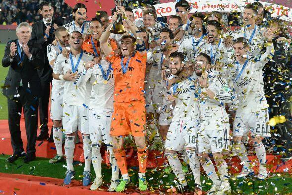 La alegría llegó tras conseguir un trofeo que Real Madrid nunca había le...