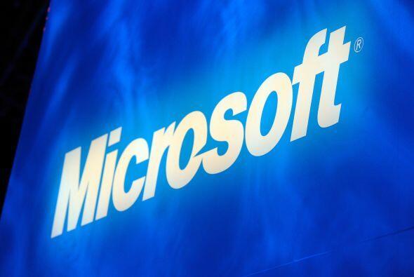 4. El gigante del software, Microsoft, está en el lugar número cuatro. C...