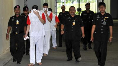 Tres mexicanos en Malasia morirán en la horca por tráfico de drogas