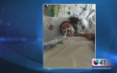 Niña lucha por su vida con respirador artificial