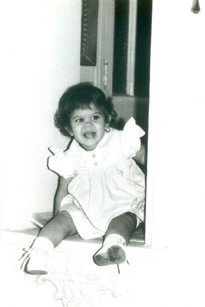 La pequeña Alina Robert en Cuba.