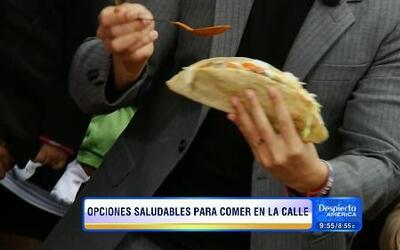 Alejandro Chabán mostró que puedes comer saludable cuando están en la calle