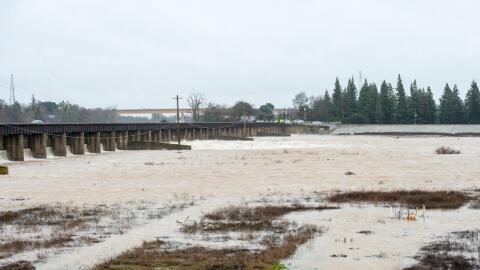 Una imagen del Yolo Bypass en el norte de California tomada el 10 de ene...