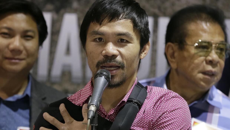Pacquiao se rehabilita en Filipinas.