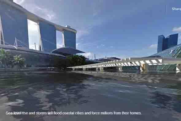 Otra más de Singapur donde se ven los efectos del agua. Entre más calien...